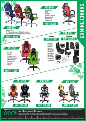 indian Gaming chairs ant e sports chairs